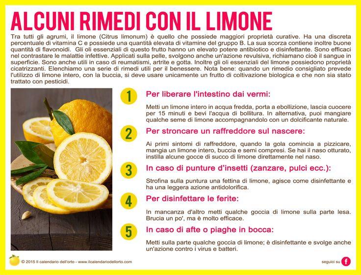 Alcuni rimedi con il limone