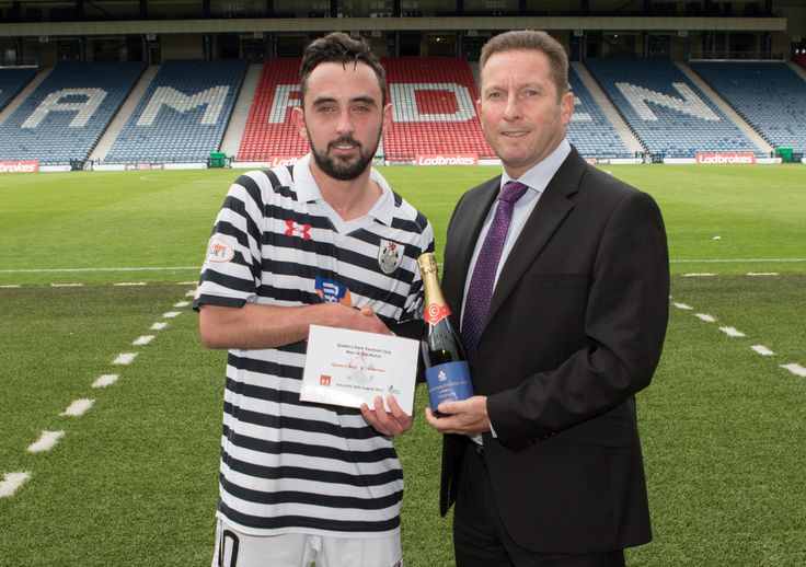 Queen's Park's Anton Brady Man of the Match after the SPFL League One game between Queen's Park and Stranraer.