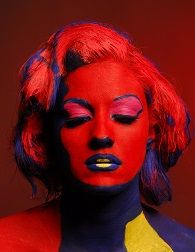 Marilyn Monroe by Andy Warhol. Model..me! With Lina Pestana in styling (hair) and facepainting by me. Photoshooting with Piotr in Paris 2008..