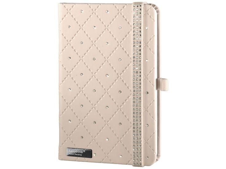 Elegantní Diamond je luxusní dámský zápisník v béžovém provedení posázený krystaly Swarovski. Kromě dokonalého vzhledu upoutá i perfektním zpracováním.