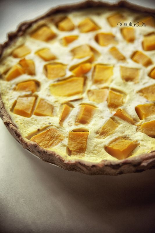 Tart with Pumpkin and mozzarella