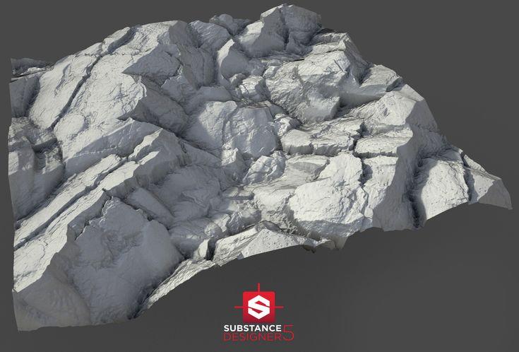 ArtStation - iRay Renders - Substance Mossy Rock., Pierre FLEAU