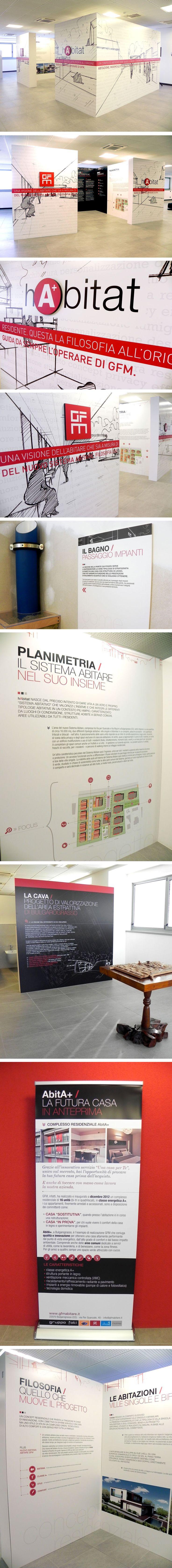 Per comunicare l'evento b_centric ha allestito lo showroom arredandolo con pannelli ricchi di informazioni, per accompagnare i visitatori in un percorso esplorativo di questo mondo di soluzioni abitative. L'evento è stato supportato da una pianificazione DeM, e da una brochure esplicativa (corredata di shopper per gadget).