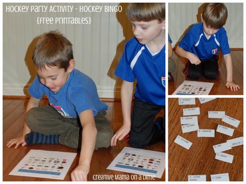 Hockey Party Activities - Hockey Bingo {Free Printable}