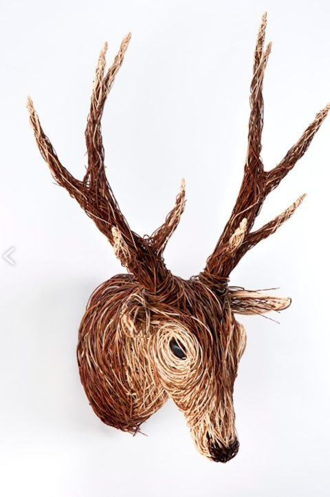 Basket Weaving With Willow Branches : Best images about faux taxidermy on wall