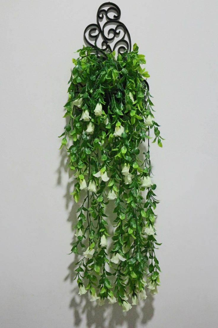 Folhagem Artificial Com Botões Brancos - Vaso Provençal - R$ 37,90 no MercadoLivre
