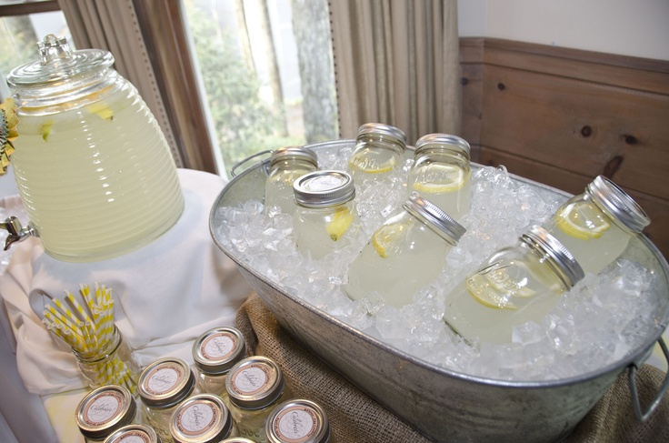 Had fun making this Lemonade Stand for  a Southern Cook-Out Rehearsal Dinner!  www.cecehampton.com