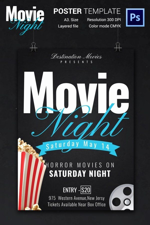 Movie Night Flyer Template from i.pinimg.com