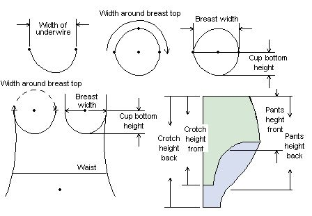 Measuring for sewing a bra and other lingerie construction tips