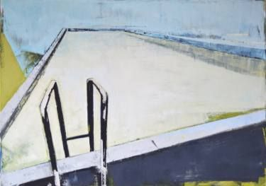 "Oil painting, canvas art, stretched, ""Pool VIII"" , 39.37/27.5 inches (100/70cm)."