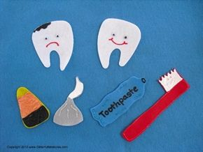Happy Tooth, Sad Tooth Flannel Board Story