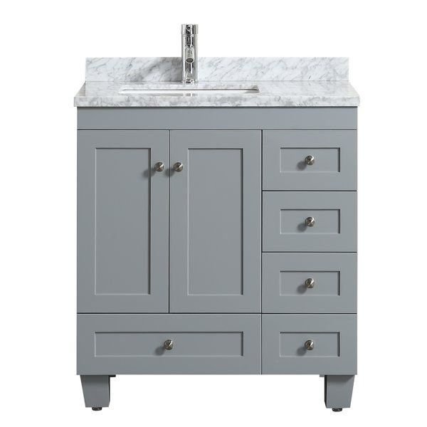 This Kyndra Transitional 31 Single Bathroom Vanity Set Is A New Addition Following The Immense Success Of The Ac Bathroom Vanity Vanity Single Bathroom Vanity