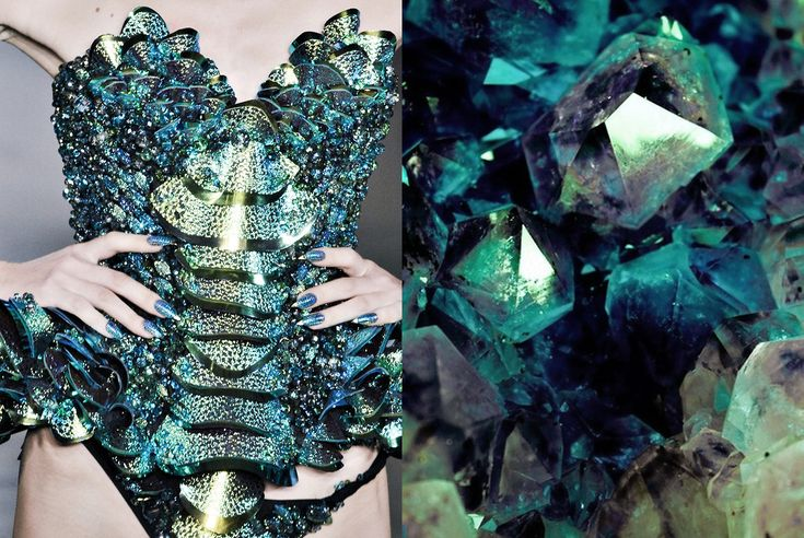 Match #87 The Blonds RTW Spring 2014 | Green crystals More matcheshere