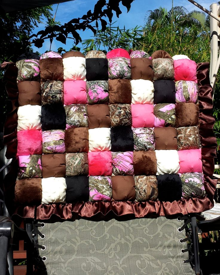 Camo Baby Bubble Quilt / Bubble Blanket / Puff Quilt /  Biscuit Quilt by CandyUnraveled on Etsy
