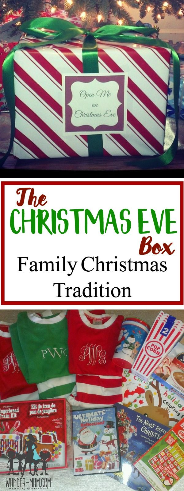 Christmas Eve box ideas. Create a fun Christmas Eve box for the kids to open on Christmas eve. Family Traditions.