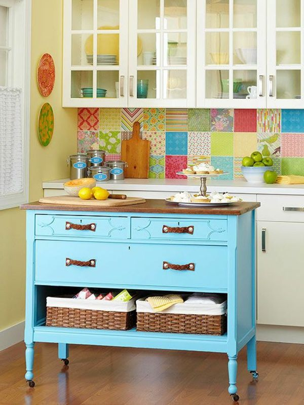 24 best ilot cuisine images on Pinterest Home, Kitchen islands - wandfliesen für küche