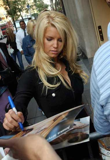 Jessica Simpson Today show at 30 Rockefeller Plaza in New York City 2003