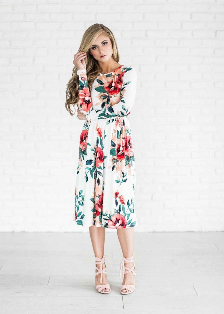Best 25  Floral spring dresses ideas on Pinterest   Spring maxi ...