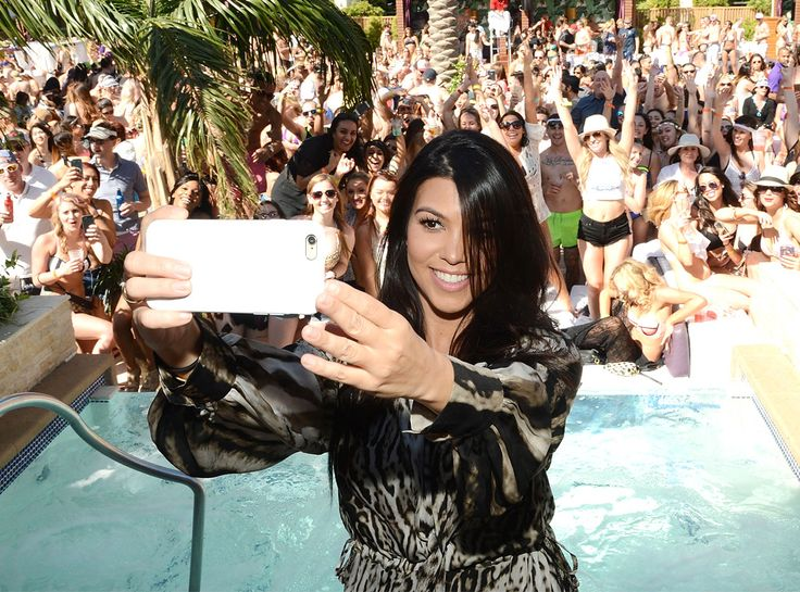 Marquee Dayclub from Party Pics: Las Vegas  Selfie time! Kourtney Kardashian hosts a preview pool party at The Cosmopolitan.