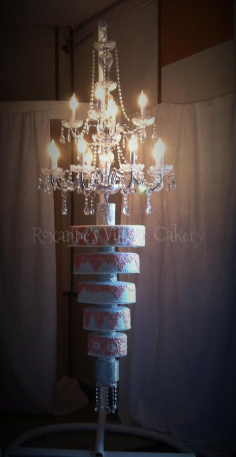 Wedding cakes 13 pinterest image result for wedding cake made from a chandelier mozeypictures Gallery