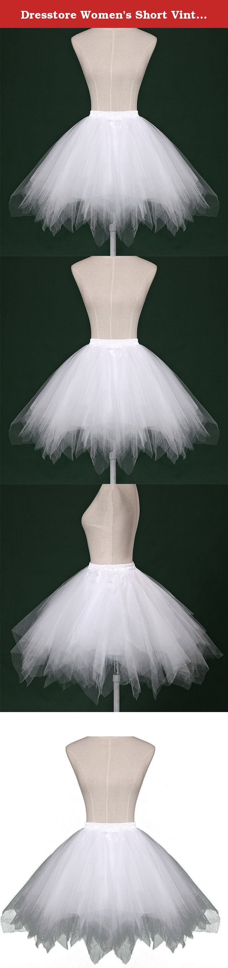 Dresstore Women's Short Vintage Petticoat Skirt Ballet Bubble Tutu Multi-colored White L/XL. Simple and sweety bubble skirt with soft tulle and lining which can prevent scratching gentle sensitive skin. Elastic waist band design make you conmfortable and it is easy to adjust.The bubble hem helps to make your various dresses more fluffy and cute. It can be used as great birthday/cocktail/party/fancy/festival favors that guests can enjoy wearing at the event. There might be a little bit…