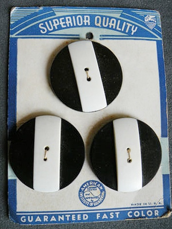 Vintage Black and White buttons