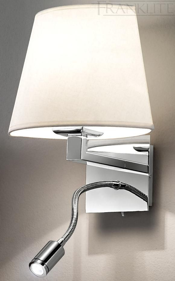 The Franklite Elliptical Wall Light With LED REdaing Is In A Modern Chrome Finish Rectangular