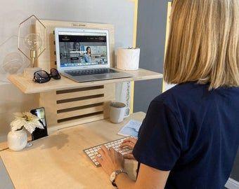 Stand Up Desk: Modern Wood Writing Desk Tall Desk for ...