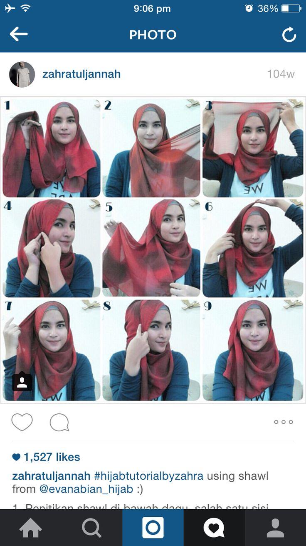 Lagi.. belajar pake pashmina.. try this hijab style.. so cute
