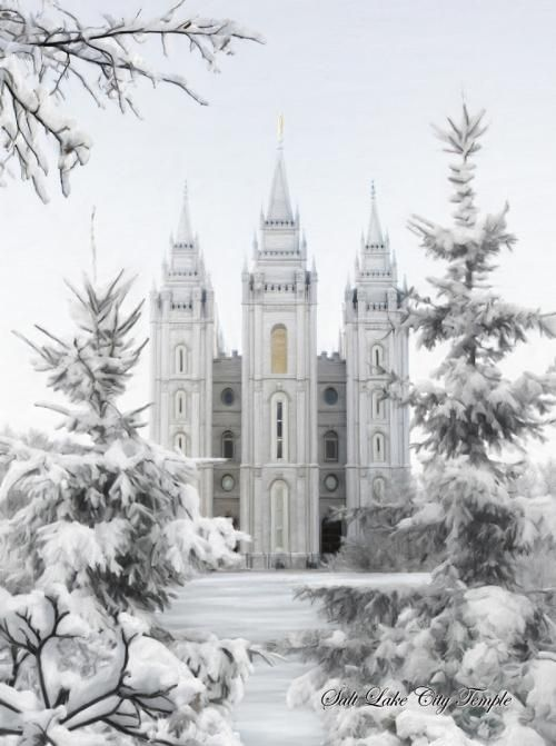 Salt Lake City Temple in Winter