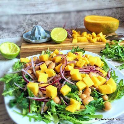 Sweetys World: Bohnensalat mit Mango und Limette