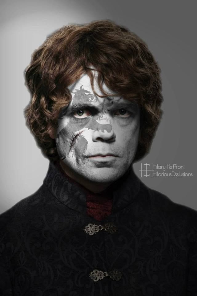 Tyrion Lannister    Game of Thrones War Paint by Hilary Heffron - Hilarious Delusions