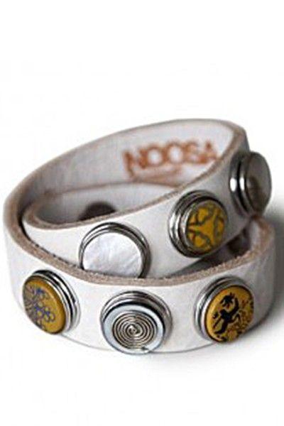 Noosa armband dubbel wit