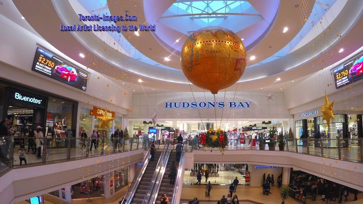 Toronto, Canada: Scarborough Town Centre with Christmas Decorations