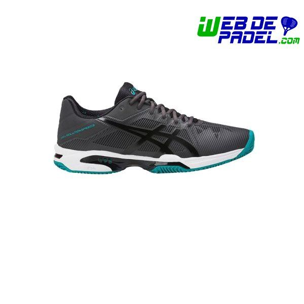 Imagenes de deporte y padel Asics Gel Solution Speed 3 Clay Gris-negro - http://webdepadel.com/producto/asics-gel-solution-speed-3-clay-gris-negro/