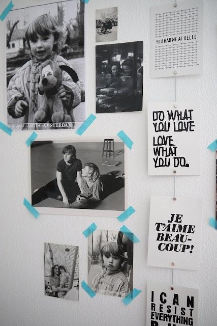 House Decorating with Washi Tape / Decora tu Casa  washi tape on the wall
