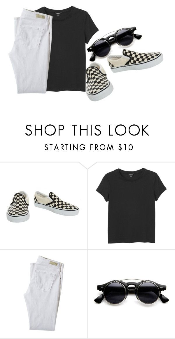 """""""Untitled #5215"""" by ghostlyghastly ❤ liked on Polyvore featuring Vans, Monki and AG Adriano Goldschmied"""