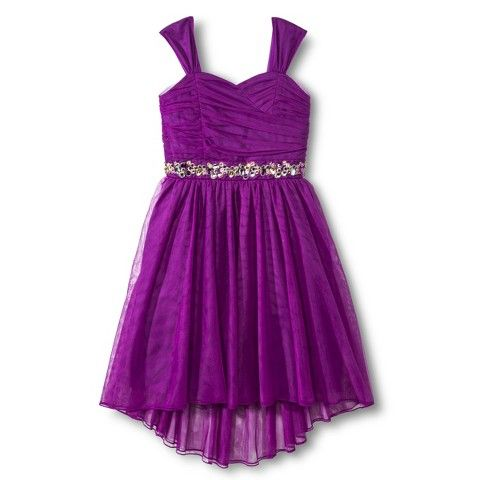 Girls' Purple Empire Dress from Target