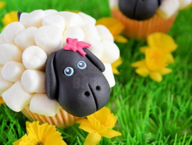 schapen cupcakes van mini marshmallows, how to