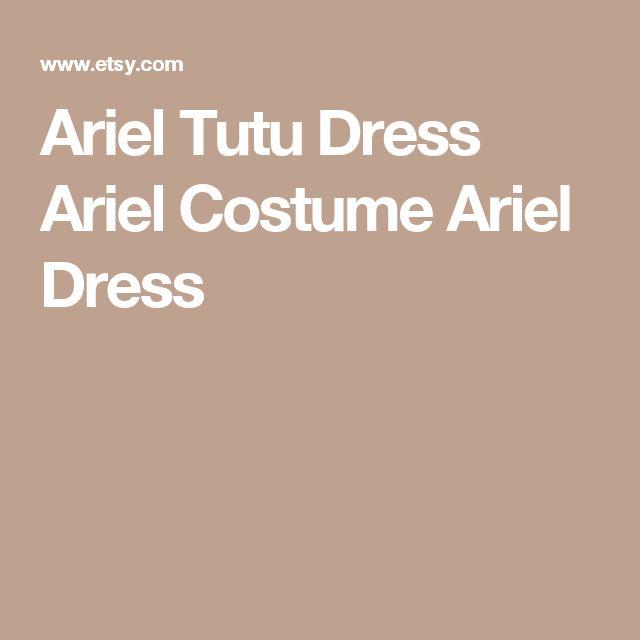 Ariel Tutu Dress  Ariel Costume  Ariel Dress
