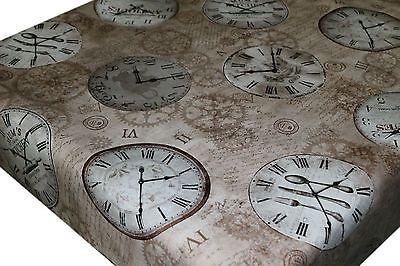 Fácil de limpiar Pvc Mantel Hule Tela De Vinilo-Antiguo Vintage Relojes