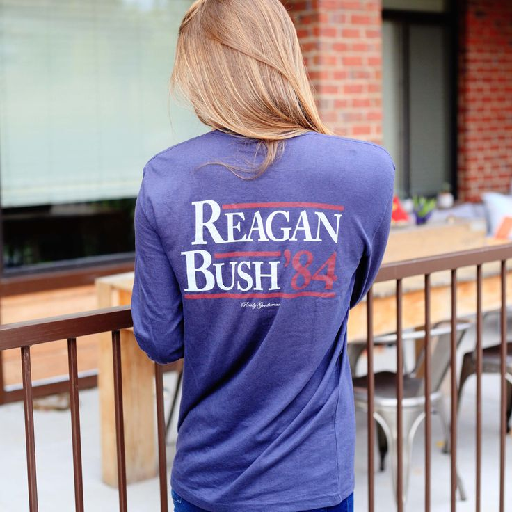 Longsleeve Reagan/Bush '84 Tee just in time for fall
