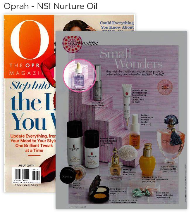 NSI Nurture Oil in the Oprah Magazine.