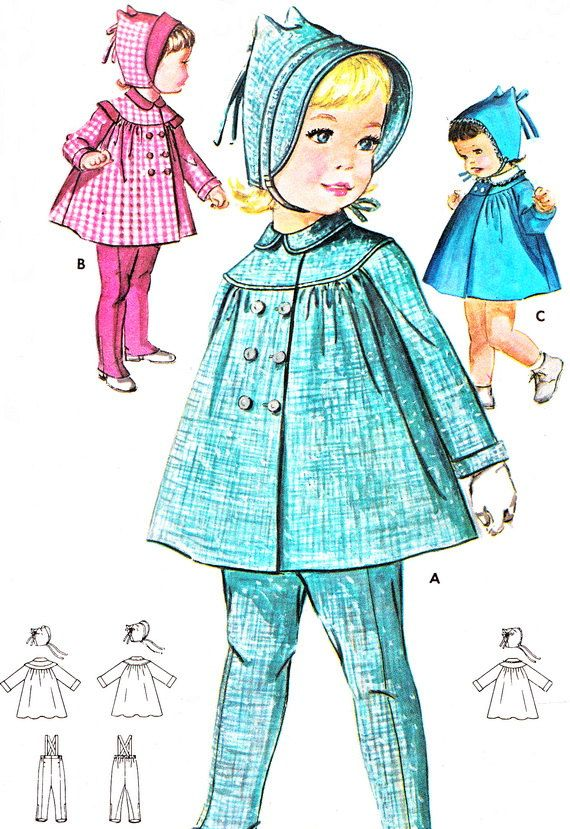 1960s Butterick 2196 Toddler Girls Yoked Double by paneenjerez, $14.00