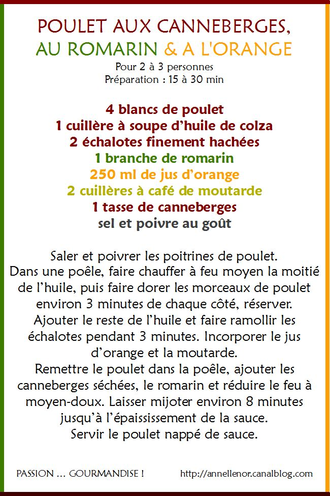 Poulet canneberges, romarin, orange_1