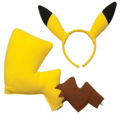 Rubies Pokémon Pikachu Ears and Tail Dress Up Kit