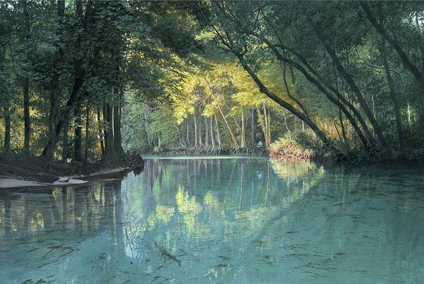 """Weeki Wachee River"" Ltd. Ed. Print by Charles Rowe. 16"" x 24"" Giclee Canvas $350 unfr., $650 framed, Paper Print $110. """