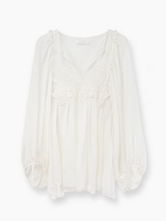 Discover Guipure Blouse and shop online on CHLOE Official Website. 17SHT3617S003