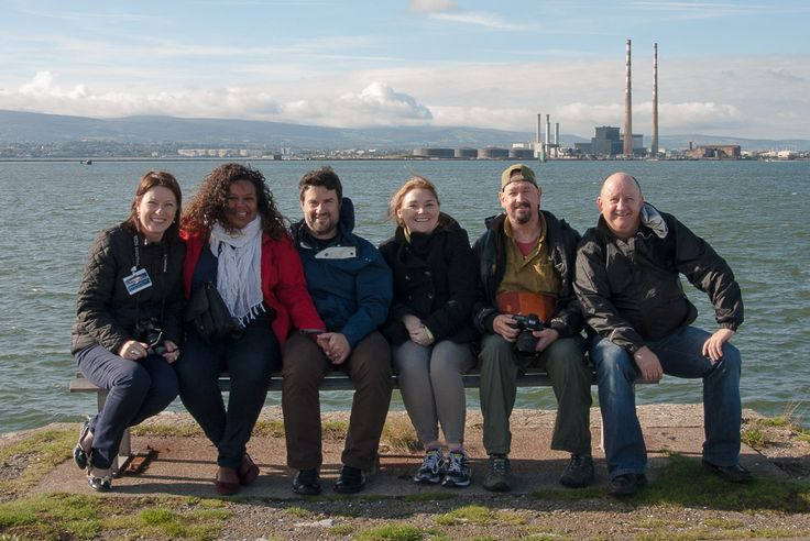 Buddies @Carol Cain  @A S We Saw It on the North Bull wall Dublin with Poolbeg Chimneys and Dublin Port in the back ground what a day.