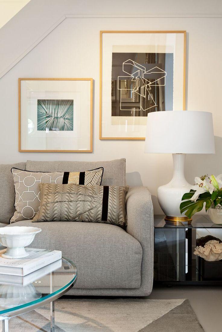 17 mejores ideas sobre sof dorado en pinterest sof for Sofa gris y blanco